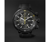 ProDiver Dive Control Limited Edition Automatic Chronograph 51mm DLC-Coated Titanium and Rubber Watch, Ref. No. 01 774 7727