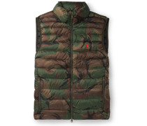 Camouflage-Print Quilted Shell Down Gilet