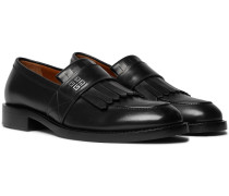 Cruz Leather Kiltie Loafers