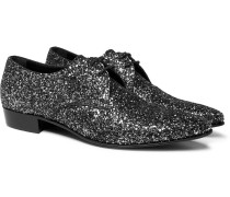 Hopper Glittered Leather Derby Shoes