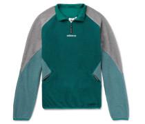 Eqt Colour-block Fleece Half-zip Jacket - Emerald