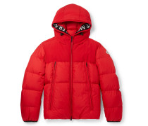Montclar Grosgrain-trimmed Quilted Shell Hooded Down Jacket