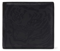 Valentino Garavani Printed Leather Billfold Wallet - Black