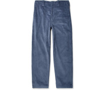 Wide-leg Cotton-corduroy Trousers