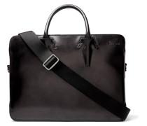Profil Leather Briefcase - Black