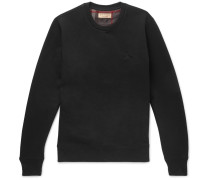 Fleece-back Cotton-blend Jersey Sweatshirt - Black