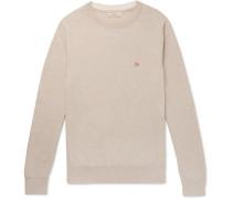 Mélange Wool Sweater - Beige