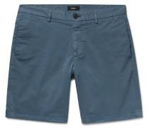 Zaine Slim-fit Garment-washed Stretch-cotton Twill Shorts