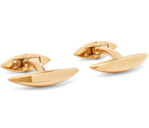 Arc Gold-plated Silver Cufflinks - Gold