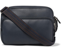 Hampstead City Leather Messenger Bag - Navy