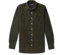 Slim-fit Cotton-corduroy Shirt - Green