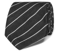 8cm Striped Linen And Silk-blend Tie
