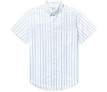 Slim-Fit Button-Down Collar Striped Pima Cotton Oxford Shirt