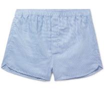 Barker Puppytooth Cotton Boxer Shorts