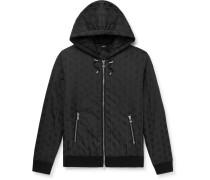 Padded Logo-Print Shell Hooded Jacket