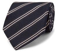 8cm Striped Knitted Silk Tie