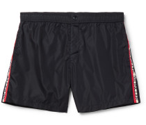 Grosgrain-trimmed Shell Swim Shorts