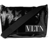 Valentino Garavani Coated-twill Messenger Bag