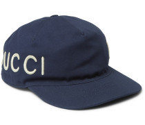 Embroidered Cotton-twill Baseball Cap - Navy
