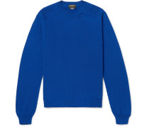 Cotton And Mulberry Silk-blend Sweater - Blue