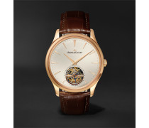 Master Ultra Thin Tourbillon Automatic 40mm 18-Karat Pink Gold and Alligator Watch, Ref. No. 1682410