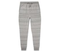 Tapered Fair Isle Cashmere Sweatpants