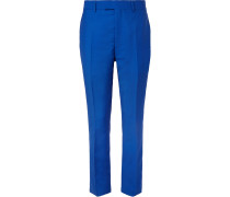 Slim-Fit Striped Mohair and Wool-Blend Trousers