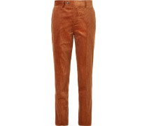 Brick Sea Island Cotton-corduroy Suit Trousers
