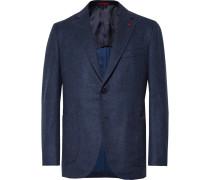 Storm-blue Slim-fit Wool And Cashmere-blend Blazer - Storm blue