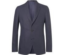 Navy Soho Slim-fit Linen Blazer