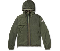 Webbing-trimmed Shell Hooded Down Jacket