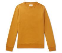 Harris Fleeceback Cotton-jersey Sweatshirt - Yellow