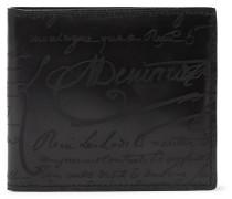 Makore Scritto Leather Billfold Wallet