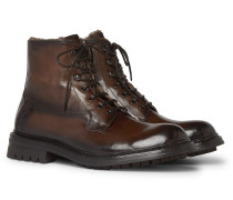 Exeter Burnished-Leather Boots