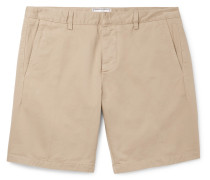 Slim-fit Cotton-twill Bermuda Shorts - Beige