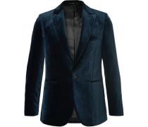 Midnight-blue Velvet Tuxedo Jacket