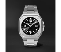 BR 05 Automatic 40mm Steel Watch, Ref. No. BR05A-BL-ST/SST