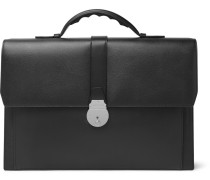 Grosvenor Full-grain Leather Briefcase - Black