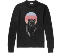 Panther Intarsia Mohair-blend Sweater