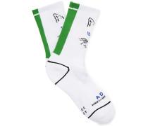 + Ader Error Logo-intarsia Cotton Socks - White
