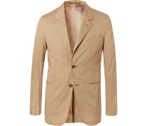 Sand Slim-fit Stretch-cotton Twill Suit Jacket - Sand