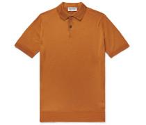 Payton Slim-fit Wool Polo Shirt - Tan
