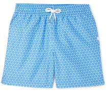 Tropez Wide-Leg Mid-Length Printed Swim Shorts