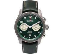 Alt1-classic/gn Automatic Chronograph 43mm Stainless Steel And Leather Watch