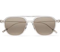 Navigator Aviator-style Acetate Sunglasses - Gray