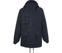 Cotton And Nylon-blend Ripstop Hooded Parka - Navy