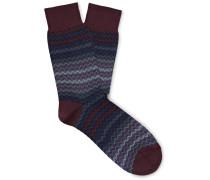 Crochet-knit Cotton Socks