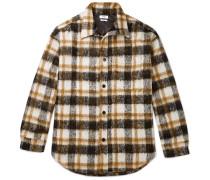 Sergey Oversized Checked Fleece Shirt Jacket - Neutral