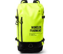 7 Moncler Fragment Suede-Trimmed Shell Backpack
