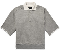 Silk-trimmed Loopback Cotton-jersey Polo Shirt